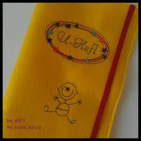 U-Heft-Hülle BABYBOY in gelb von he-ART by helen hesse Bild 2