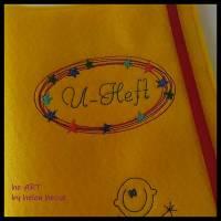 U-Heft-Hülle BABYBOY in gelb von he-ART by helen hesse Bild 9