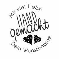 """Personalisierter Stempel """"Mit viel Liebe handgemacht"""" DIY Stempel """"Mit viel Liebe handgemacht"""" Ø 30/40mm Bild 2"""