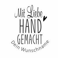 """Personalisierter Stempel """"Mit  Liebe handgemacht"""" DIY Stempel """"Mit  Liebe handgemacht"""" Ø 30/40mm Bild 2"""