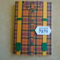 Vatertag ,Vatertagskarte,Glückwunschkarte zum Vatertag ,Vater Papa,Papi,Hosenträger,Gelb,Grün Bild 5