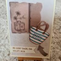 """Gratulationskarte """" Beach """" Reise , Urlaub Bild 1"""