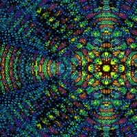 Zart scheinende Energieteilchen - Digital-ART - Kunstwerk 1/10 – Design  Ulrike Kröll Bild 1