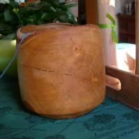 Sehr schöne gedrechselte Wollschale Garnschale Holzschale aus Birke Bild 1