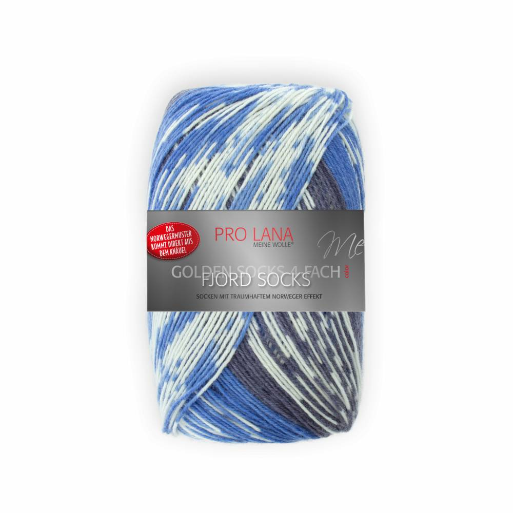 (100g/7,95€) Pro Lana Fjord Socks 184 blau Color 100 g  Bild 1