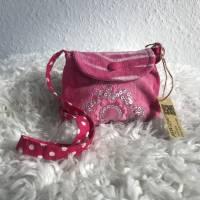 Bezaubernde pinkfarbene Tasche für Mädchen mit Teddy, Schmetterling oder Pailetten, Umhängetasche für kleine Mädchen Bild 1
