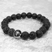 Lava Armband mit einer Kreuzperle aus Edelstahl Bild 4