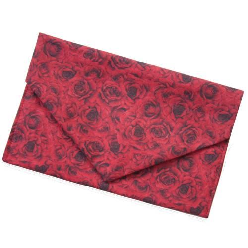 Geschenkverpackung oder Maskentasche *Rote Rosen* Baumwolle waschbar wiederverwendbar no waste bag