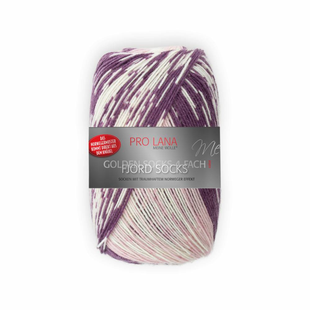 (100g/7,95€) Pro Lana Fjord Socks 188 pflaume Color 100 g  Bild 1