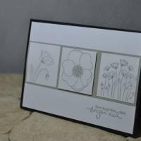Trauerkarte mit Mohnblüten Bild 1