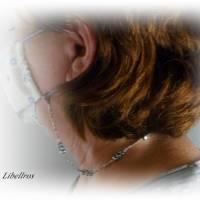 Extralange Brillenkette mit Herzen - Brillenhalter,Maskenkette,XXL,Geschenk,Muttertag,schwarz,weiß Bild 5