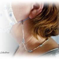 Extralange Brillenkette mit Herzen - Brillenhalter,Maskenkette,XXL,Geschenk,Muttertag,schwarz,weiß Bild 6