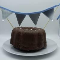 Wimpelkette, klein, für den Geburtstagskuchen, Upcycling Bild 2