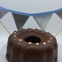 Wimpelkette, klein, für den Geburtstagskuchen, Upcycling Bild 3