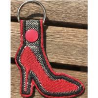 High Heels Schlüsselanhänger / Taschenbaumler auf Stoff gestickt - so süß Bild 1
