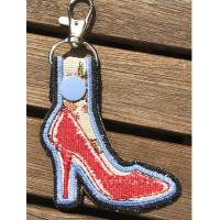 High Heels Schlüsselanhänger / Taschenbaumler auf Stoff gestickt - so süß Bild 5
