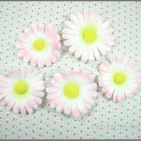 Filzblüten, gefilzt, 5 Teile, Gänseblümchen, Blumen, Bastelblüten, Streudeko, Bild 2