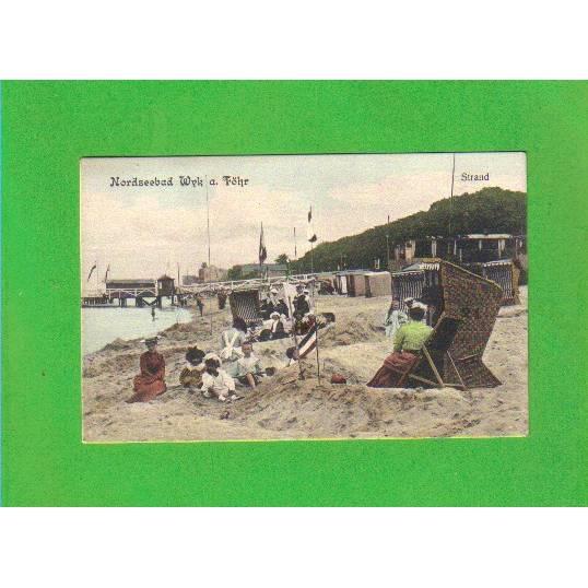AK - Ansichtskarte - Nordseebad Wyk a. Föhr - Strandleben - coloriert - ungelaufen Bild 1