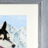 Husky - Original Aquarellmalerei, gerahmtes Unikat Bild 2