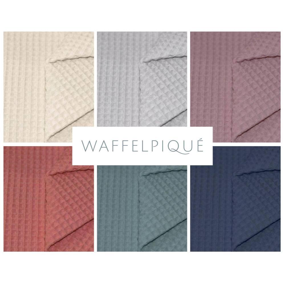 ab 50cm Waffelpiqué - 100% Baumwolle Waffelstoff - Baby Bettwäsche, Lätzchen, Schlafsack, Stirnband Bild 1