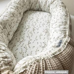 ab 50cm Waffelpiqué - 100% Baumwolle Waffelstoff - Baby Bettwäsche, Lätzchen, Schlafsack, Stirnband Bild 9