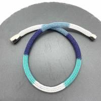 Doppelt drahtgestrickte Schlauchkette, 4-farbig Bild 1