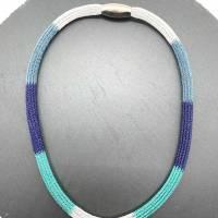 Doppelt drahtgestrickte Schlauchkette, 4-farbig Bild 2