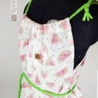 Damen Long-Top aus luftigen Musselin Melonen Bild 3