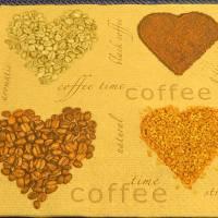 4 Servietten / Motivservietten / Kaffee Herz  / Kaffee Liebe /  Kaffee Motiv K 167 Bild 1