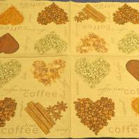 4 Servietten / Motivservietten / Kaffee Herz  / Kaffee Liebe /  Kaffee Motiv K 167 Bild 2