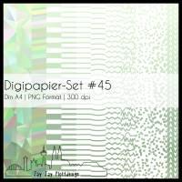 Digipapier Set #45 (grün) abstrakte und geometrische Formen zum ausdrucken, plotten, scrappen, basteln & mehr Bild 1