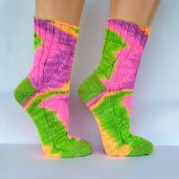 Socken Wollsocken Damensocken handgestrickt Größe 40/41 Bild 2