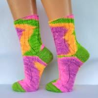 Socken Wollsocken Damensocken handgestrickt Größe 40/41 Bild 3
