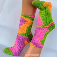 Socken Wollsocken Damensocken handgestrickt Größe 40/41 Bild 6