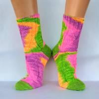 Socken Wollsocken Damensocken handgestrickt Größe 40/41 Bild 8
