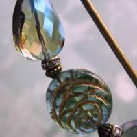 Schalnadel Rose für die Elster, 10cm bronze Schmucknadel mit böhmischen Glasperlen Bild 7