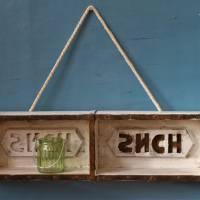 kleines Wandregal aus alter Ziegelform Upcycling Bild 1