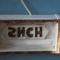 kleines Wandregal aus alter Ziegelform Upcycling Bild 5