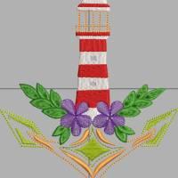 Stickdatei Anker Leuchtturm Blume14x15cm Bild 5