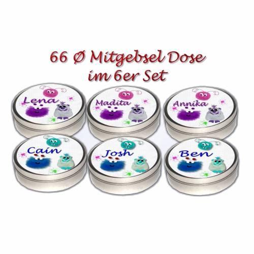 Set 6 Dose Monster, Kindergeburtstag Mitgebsel Giveaway, Gastgeschenk