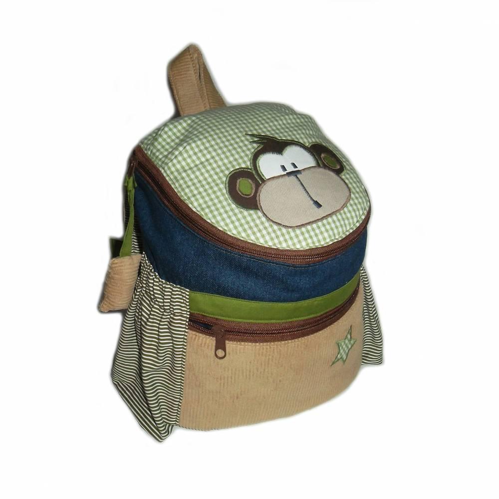 Kinderrucksack / Kindergartenrucksack Äffchen mit Namen Bild 1