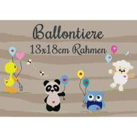 Stickdatei Ballontiere 13x18cm