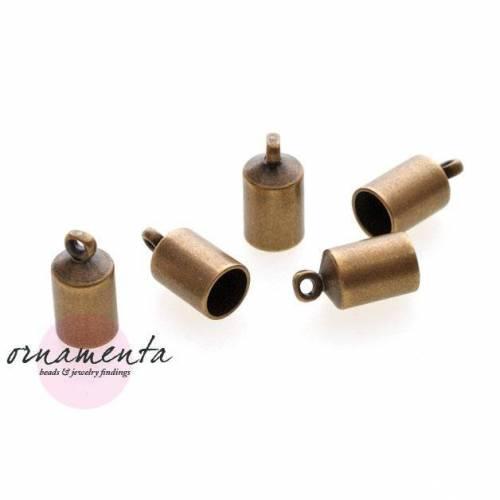 4Stk ~ 7x13mm ~ Messing ~ Endkappen ~ Material zur Schmuckherstellung