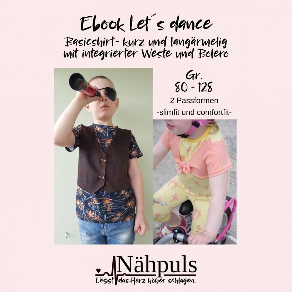 Ebook Kindershirts Ebook Kindershirts Let`s dance Gr. 80 bis 128 Bild 1