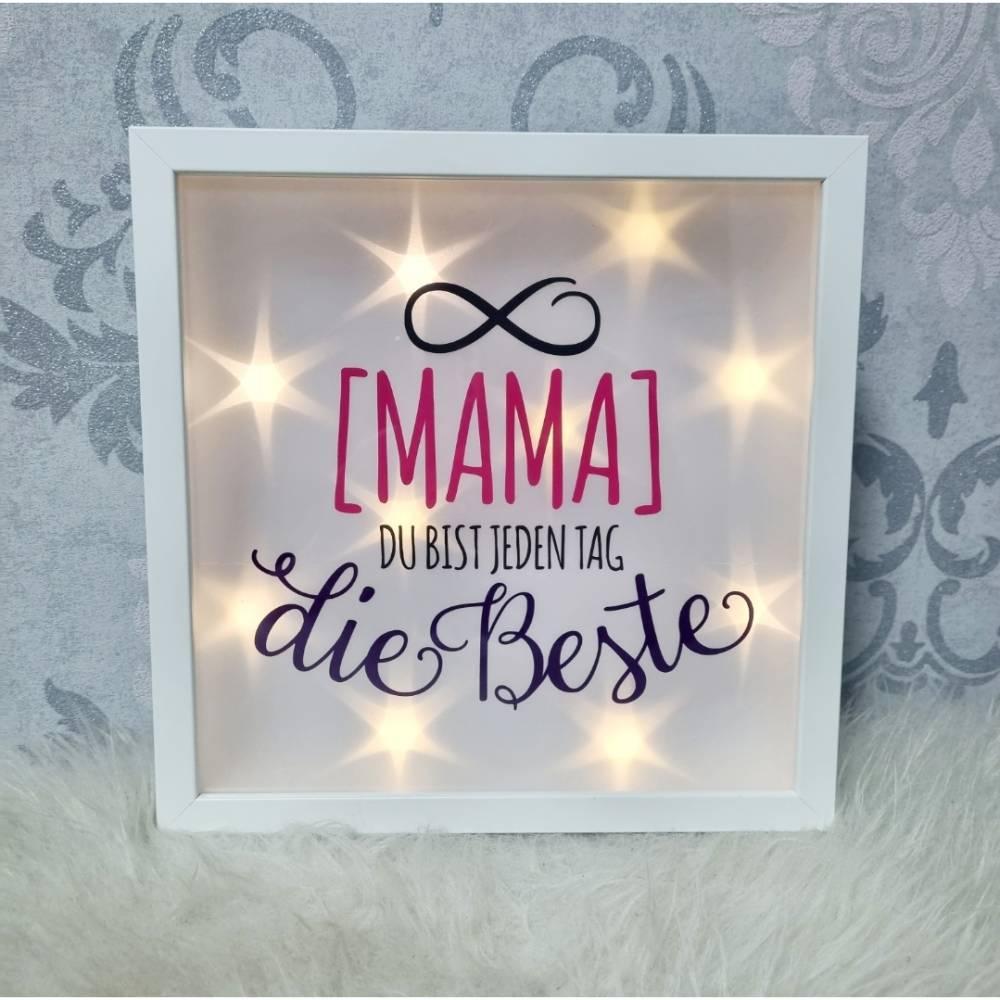 Leuchtrahmen Mama, Muttertag, Geburtstag, Geschenk Bild 1