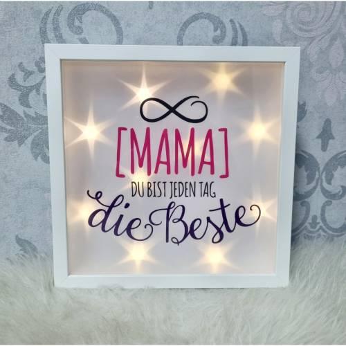 Leuchtrahmen Mama, Muttertag, Geburtstag, Geschenk