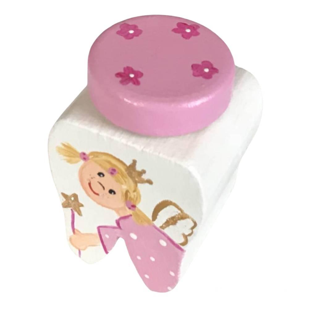 Milchzahndose Zahndose für Mädchen Zahnfee weiß rosa  Bild 1