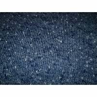 Jersey Strick Strickstoff blau meliert Boucle Bild 1
