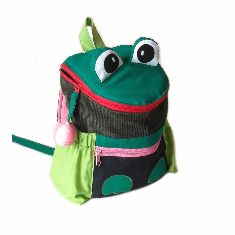 Kinderrucksack / Kindergartenrucksack Froschdame mit Namen Bild 1