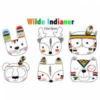 Stickdatei Wilde Indiander 10x10cm Bild 1